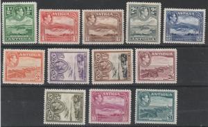 ANTIGUA 1938 KGVI PICTORIAL SET TO 1 POUND