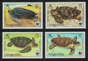 Anguilla WWF Turtles Endangered Animals 4v SG#560-563