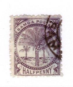 Samoa #9c Used - Stamp CAT VALUE $10.00