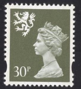 Great Britain Scotland  #SMH67   1993   MNH  Q E II Machin syncopated  30p.
