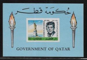 Qatar 102B Kennedy s.s.  MNH c.v. $42.50 (z1)