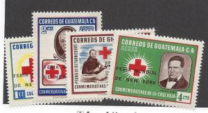 Guatemala, C291-94, New York World Fair Surcharged Singles, VLH
