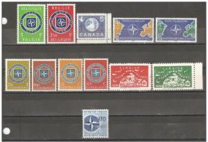 Worldwide 1959 10th Anniversary of NATO Accumulation,VF MNH** (AR-1)