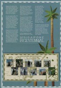 HERRICKSTAMP NEW ISSUES SINGAPORE Sc.# 1971-80 Bicentennial Collectors S/S