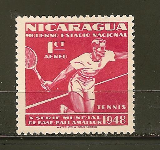 Nicaragua C296 Tennis Airmail Mint Hinged