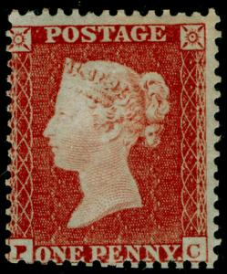 SG22, 1d red-brown PLATE 194, SC14 DIE I, VLH MINT. Cat £1000+. CERT. PC