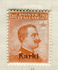 ITALY; KARKI Agean Islands Optd. issue 1921 fine Mint hinged 20c. value
