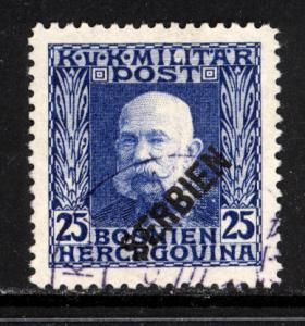 Austria Serbia 1916 Scott #1N9 used