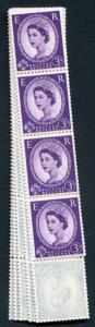 S79 3d Deep Lilac Crowns Wmk U/M Coil Strip 59
