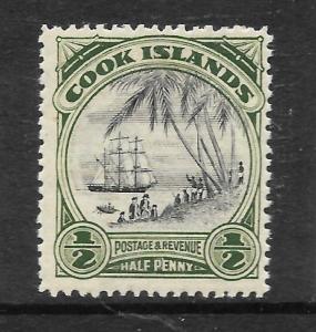 COOK ISLANDS 1932  1/2d   PICTORIAL  MNH  P14    SG 99a