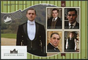 St Vincent & Grenadines 2014 MNH Downton Abbey Mr Carson 4v M/S TV Series Stamps