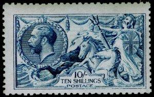 SG412, 10s blue, NH MINT. Cat £4000. DE LA RUE.