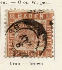 Baden 1862-64 Early Issue Fine Used 9kr. NW-04559