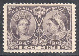 Canada #57 XF MINT OG LH -- C$250.00 - Jubilee - Ultimate Centering WOW