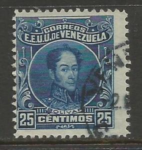 VENEZUELA 263a VFU BOLIVAR V076-1