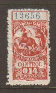 Santa Fe (Argentina) Revenue 1898 Mint
