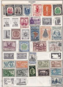 colombia issues of 1944-57 stamps page ref 18406
