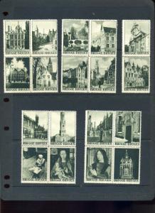 25 VINTAGE BRUGGE BRUGES BELGIUM HISTORIC POSTER STAMPS (L1017)