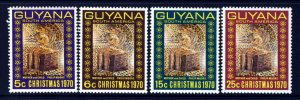 GUYANA 1970 Complete Christmas Set SG 527 to SG 530 MNH