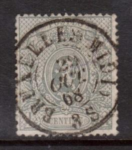 Belgium #25b Used With Great Cancel