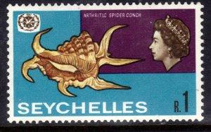 Seychelles 1967 QE2 R1 Intl Tourist Year Umm SG 244 ( K475 )