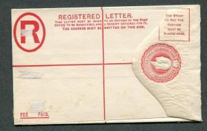 Gibraltar 2p Registered Letter Envelope Unused