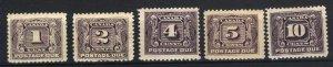 C J1-5  Mint Complete Set VF 1906-28 PD  CV($130.00)