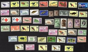 50 ALL DIFFERENT BRITISH HONDURAS  STAMPS