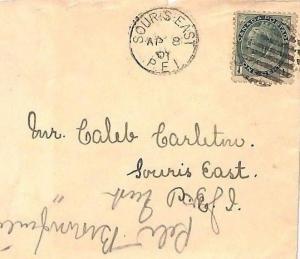 VV131 1901 Canada PRINCE EDWARD ISLAND *Souris East PEI* CDS {samwells-covers}