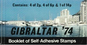 GIBRALTAR 74 STAMP BOOKLET  UNMOUNTED MINT