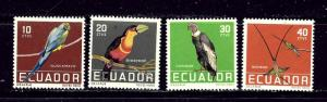 Ecuador 634-37 MNH 1958 Birds