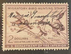 US Stamps #RW20 Used Federal Ducks #RW20A164