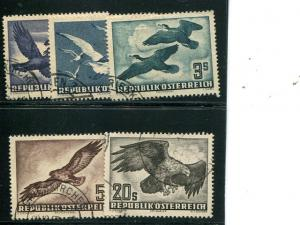 Austria # 54-60 used VF - Lakeshore Philatelics