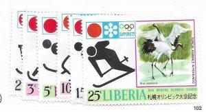 Liberia #577-582 MNH - Stamp - CAT VALUE $6.40