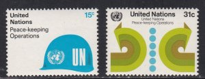 United Nations - New York # 320-321, Peace Keeping Operations, NH, 1/2 Cat.