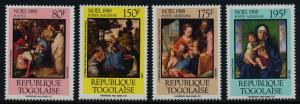 Togo 1483-7 MNH Christmas, Art, Paintings