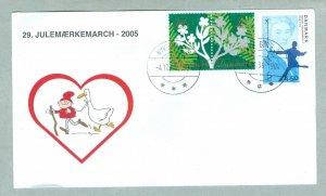 Denmark. Cover.  # 29 . Walk 2005. Christmas Seals H.C. Andersen. Nykobing M.
