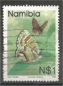 NAMIBIA, 1993, used $1 Butterflies, Scott 751