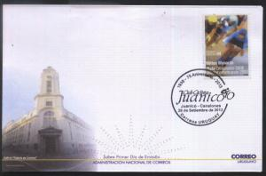 URUGUAY 2013 SPORTS CYCLISM SPECIAL CANCELATION COVER