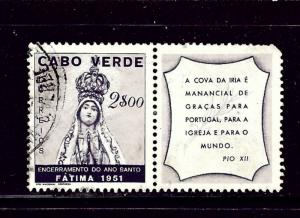 Cape Verde 270 Used with label 1951 issue