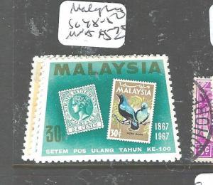 MALAYSIA (P2704B) STAMP SG 48-50  MNH