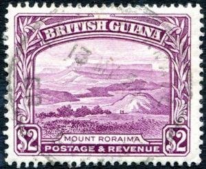 BRITISH GUIANA-1950 $2 Purple Perf 14 x 13 Sg 318a FINE USED V26225