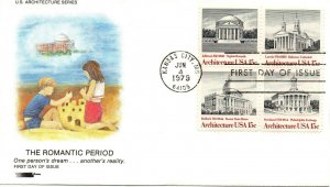 US FDC #1782a Architecture, Softones (4963)