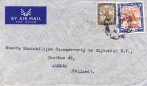 Sudan 5m and 3pi Camel Post 1950 Sudan Air Mail, Khartoum Airmail to Almelo, ...