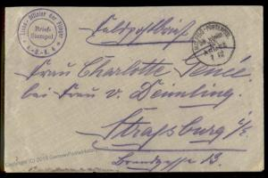 Germany WWI Air Force Stabs Offizier der Flieger AOK 4 Feldpost Cover 69784