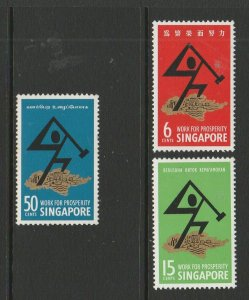 Singapore 1968 National Day MM SG 98/100