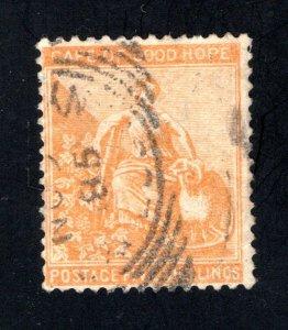Cape of Good Hope Scott 38, F/VF, Used,  CV $300.00 ..... 1190036