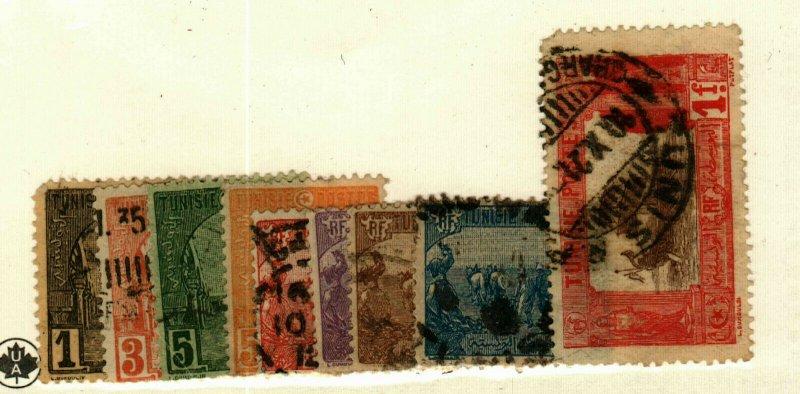Tunisia #29-30,32-4,36,38-9,52 used CV$3.00