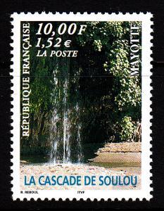 Mayotte MNH Scott #131 10fr Soulou Waterfalls