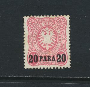 GERMAN OFFICES IN TURKEY 1884, 20p BRIGHT ROSE RED MLH Sc#2v Mi#2a (SEE BELOW)
